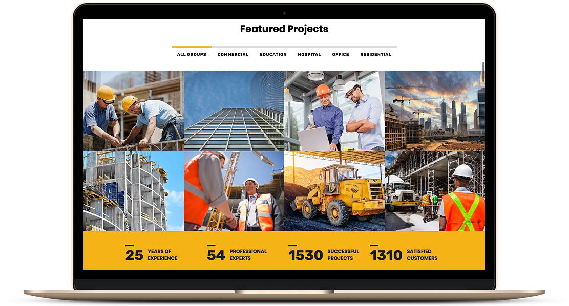 construction website example