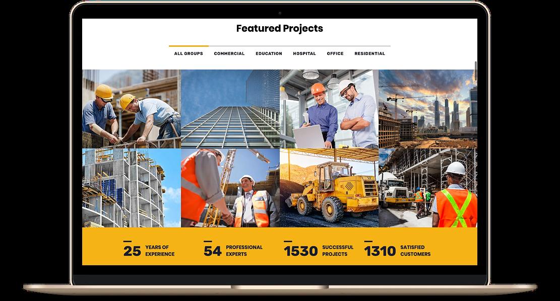 construction website example