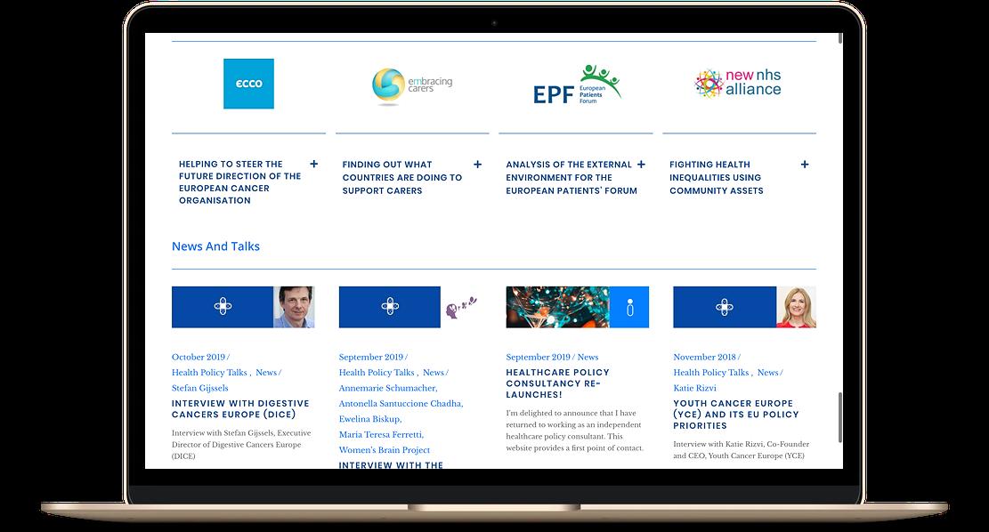 consultant website example 2